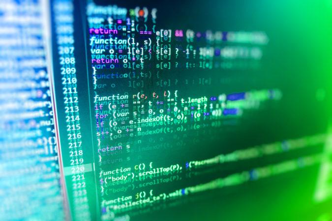 kod na komputerze