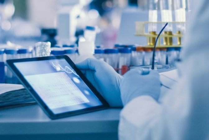 tablet in a lab